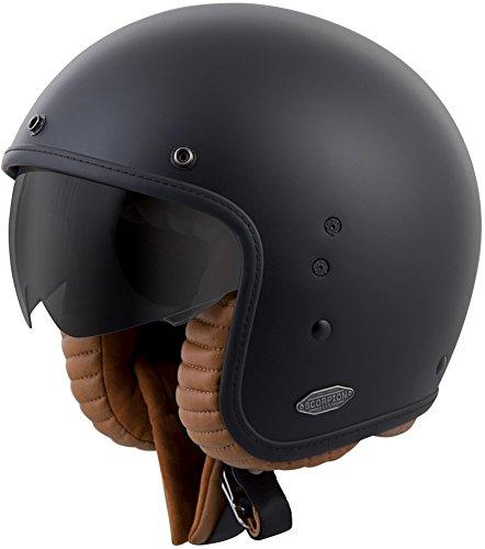ScorpionExo Belfast 3/4 Open Face Helmet (Matte Black, -