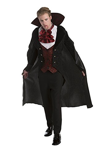 [Palamon Men's Vampire Costume, Burgundy, Large] (Adult Vampire Halloween Costumes)