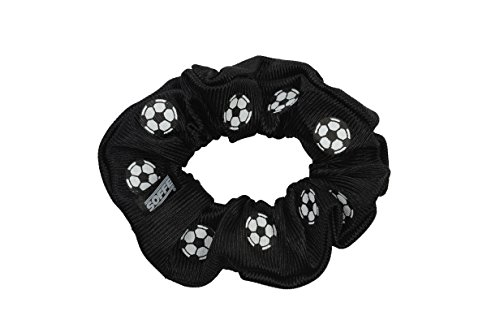 EMC Sports Soccer Dazzle Hair Scrunch, Black, One Size fits All