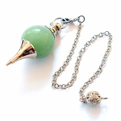 earthegy Green Aventurine Sephoroton Pendulum for Divination and Dowsing