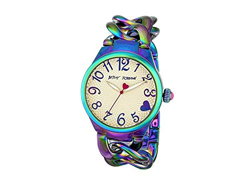 Betsey Johnson Women's 97L125 Analog Display Analog Quartz Gold Watch (Betsey Johnson Watch Bracelet)