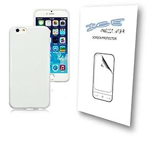 Sólido blanco brillante Plain carcasa de Gel para iPhone 6desgaste + hielo PROTECTOR de pantalla, 2unidades
