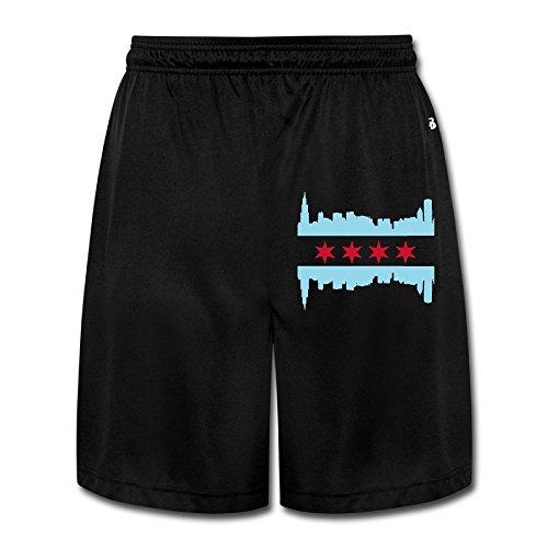 Logon 8 Men's Chicago Red Stars Personalize Performance Shorts Sweatpants Black XL