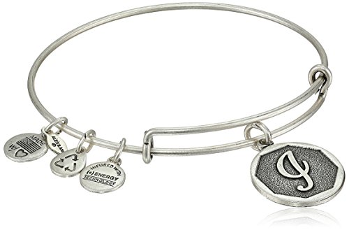 Alex and Ani Rafaelian Silver-Tone Initial I Expandable Wire Bangle Bracelet, 2.5'' by Alex and Ani (Image #1)