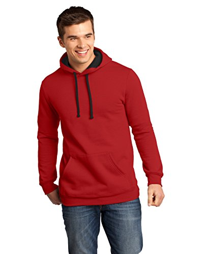 District Young Mens The Concert Fleece Hoodie. - X-Small - New Red