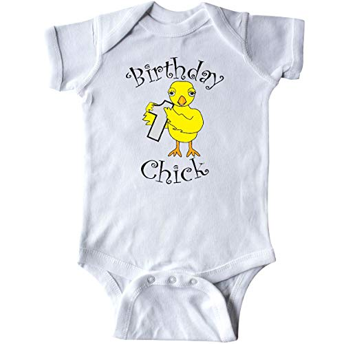 Number Infant Creeper (inktastic - Birthday Chick Number One Infant Creeper 24 Months White 32c66)