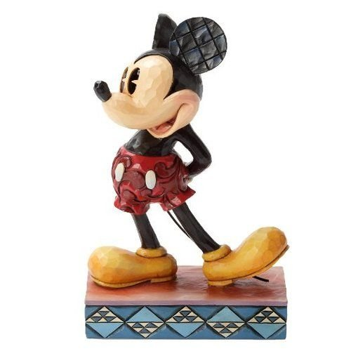Disney Traditions by Jim Shore Mickey Mouse Personality Pose Stone Resin Figurine, (Disney Mickey Mouse Figurine)