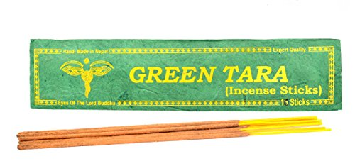 - Bhutanese Aromatic Green Tara Incense Tibetan Meditation Joss Incense Sticks -Pack of 10 ( INS-1033GTARA)