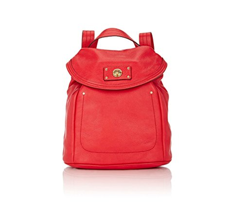 Marc by Marc Jacobs Totally Turnlock Leather Backpack - Rosey Red (Marc By Marc Jacobs Classic Q Mariska Backpack)