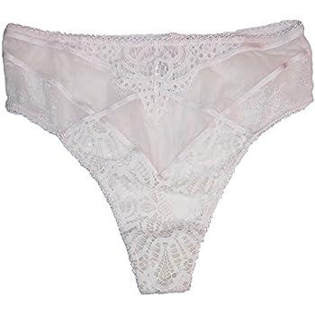 ecd97bd7b59 Victoria's Secret High-Waist Lace Panty Dream Angels Thong Ivory L 463