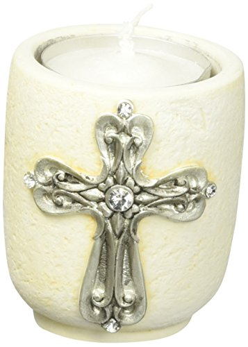 Fashioncraft 5495 Cross Design Tea Light Holder Cross Tealight Candle Holder