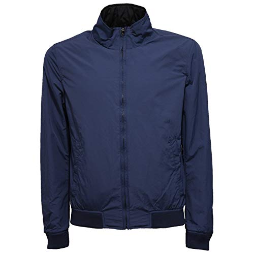 face Jacket 9804w Man Blue Woolrich Blu Uomo blue Double Giubbotto CqxwAHg