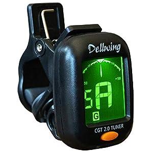 Dellwing Stimmgerät – Premium Stimmgerät Für Gitarre, Violine/Geige, Ukulele, Bass Gitarre Und Chromatisch…