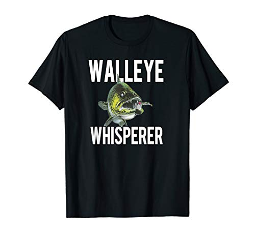 Walleye Whisperer Fishing Jigs Lures Tackle New Pro Walleye T-Shirt