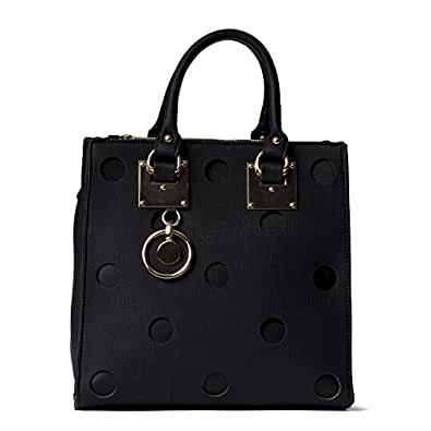Handbag Republic Womens Designer Vegan PU Leather Top Handle Bag Tote Style Purse With Laser Cut Design