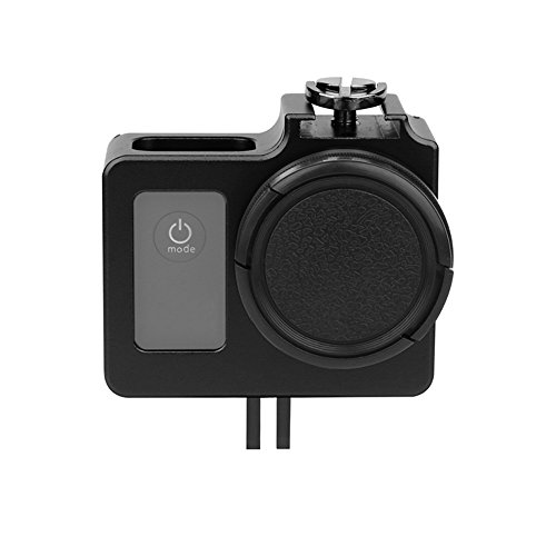 T.Face Aluminum Alloy Protective Housing Case for SJCAM SJ4000 WIFI/SJ6000/SJ7000 Camera With Metal Frame Lens Cover UV Filter by T.Face