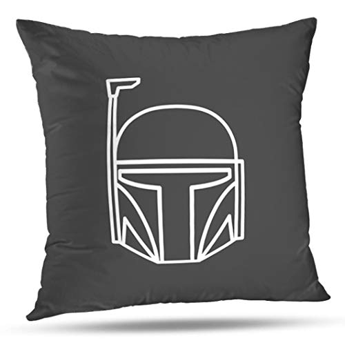 Alricc Hero Mask Line Star War Symbol Character Avatar Cartoon Comic Face Decorative Throw Pillows Cushion Cover for Bedroom Sofa Living Room 18X18 Inches