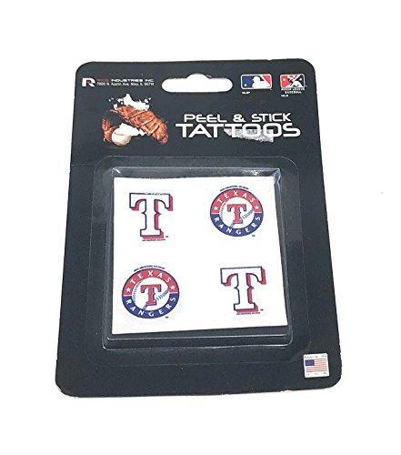 MLB Texas Rangers UT Peel & Stick Tattoos