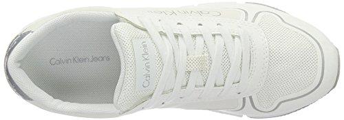 Microfiber Klein Nylon Women's White Sneakers Reflex Jeans Calvin Low Top Tori qxAwH6Y