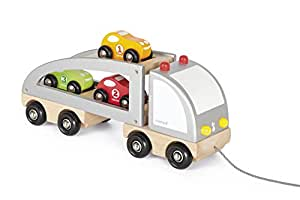 Janod - Camión transporta coches a estirar (J05603)