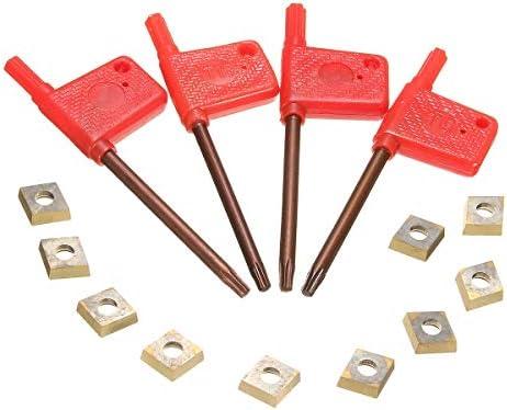 Karbidklinge Lathe Zubehör Halter mit 10 Stück CCMT09T304 Einsätze 4pcs 12mm SCLCR/L SCMCN Lathe Bohrstange Drehwerkzeug