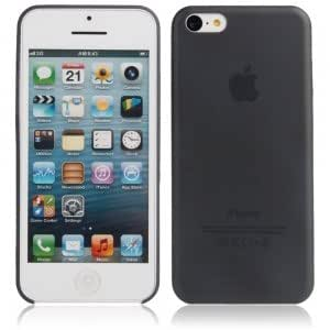 Ultra-thin ( 0.35mm ) Frosted Protective PC Case for iPhone 5C Black