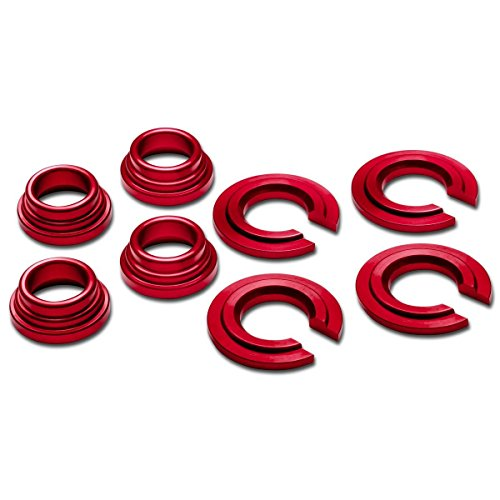 240sx Suspension (Godspeed Suspension Subframe Bushing Collars Nissan 89-98 180/240sx (S13/s14) , 90-96 300zx (Z32) , 90-94 Maxima Silvia Red Color Good for Drifting D1)