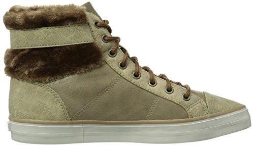 ... ESPRIT Star Bootie Damen Hohe Sneakers Braun (218 taupe brown)