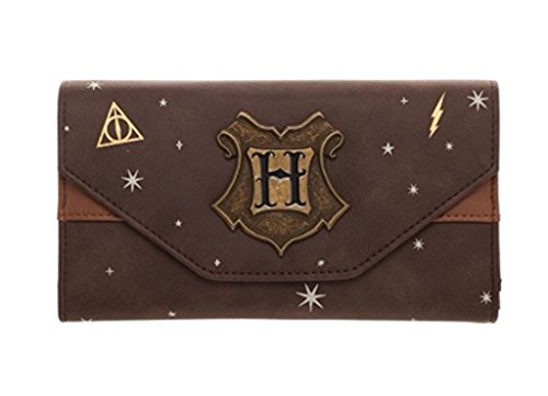 Potter Wallet Harry Faux Tri Hogwarts Fold Crest Standard Leather TOwxq1z