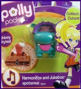Polly Pocket Shinny Styles Harmonifox and Jukebox-Apotamus Figures