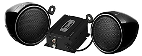 SOUND STORM SMC70B Black 600 watt Motorcycle/ATV Sound System with Bluetooth Audio Streaming, One pair of 3