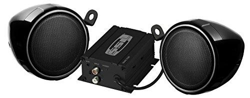 SOUND STORM SMC70B Black 600 watt Motorcycle/ATV Sound System with Bluetooth Audio Streaming, One pair of 3