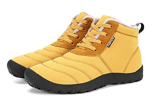 Scennek, Stivali da Neve Uomo, Giallo (Yellow), 40 EU