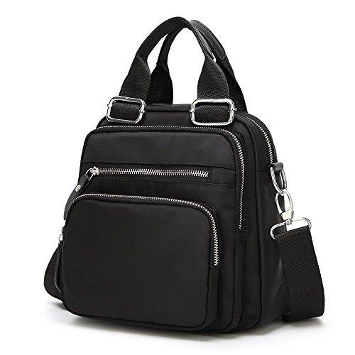 Aoligei Tissu d'oxford cartables sac impression féminine double sac à bandoulière sac à dos multifonctionnel B