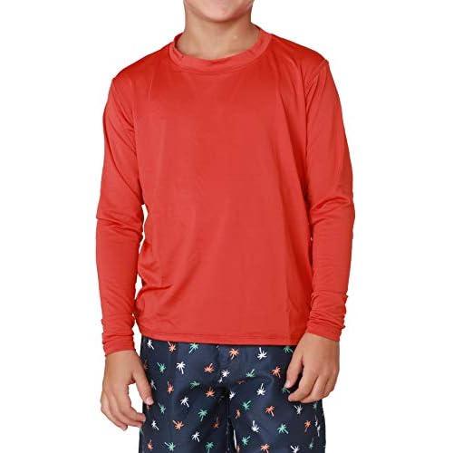 INGEAR Boys/' Swim Shirt UPF Boys Sun Shirts Boys/' Long Sleeve Rash Guard