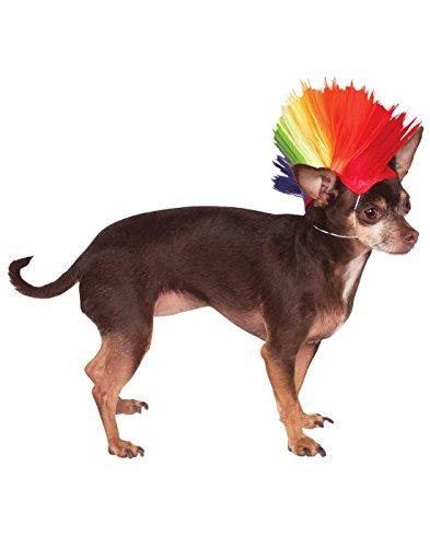 [Rubies Costume Company Rainbow Mohawk Pet Wig, Small/Medium] (Mohawk Halloween Costumes)