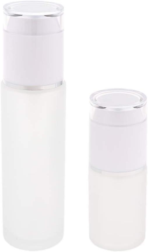 Envase Cosmético Recargable 30ml / 80ml De Las Botellas Del Espray De Cristal De 2 Pedazos - Blanco