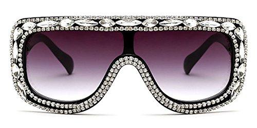 Slocyclub Women Rectangular Goggle Flat Top Oversized Sunglasses with - Sunglasses Miu Miu Online Buy