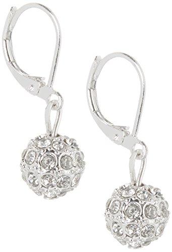 Rhinestone Chaps (Chaps Pave Rhinestone Ball Earrings One Size Silver tone)