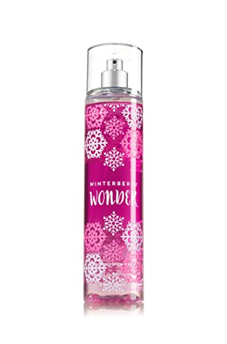 Bath and Body Works Fine Fragrance Mist Winterberry Wonder 2016 Snowflake Bottle 8 Ounce Full Size (Bath And Body Works Splash)