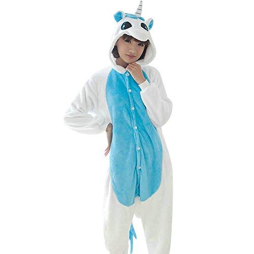 Dance Costumes As Animals (OVOV Unicorn Cosplay Costume Animal Onesie Pajamas Sleepsuit for Party Halloween Christmas Blue S)