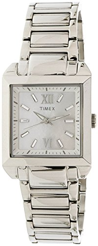Timex Style Premium Mother Of Pearl Dial Stainless Steel Ladies Watch T2P404