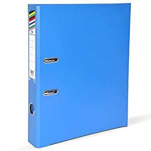 FIS PP Lever Arch Files with Slide-In Plate Blue Color, Size of Spine is 4cm, A4 (210 X 297 mm) - FSBF4A4PBL