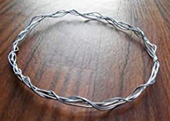Silver Wire Wrapped Elven Tiara, Elf wed...