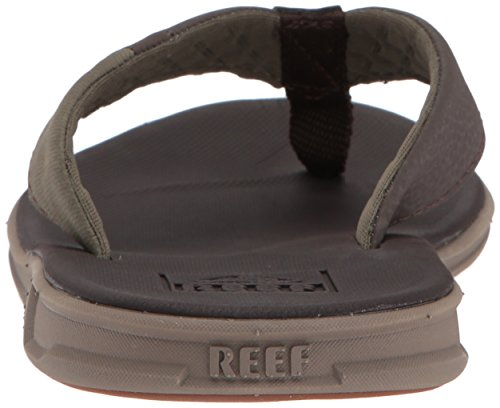 Brown Athletic Slammed Men Rover Waterproof Footbed for Flip Mens Sandals with Flops Olive Cushion Soft Reef x6AHn