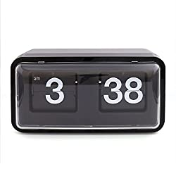 Creative Flip Clock,Desk Table File Down Page Clock,Retro Modern Digital Auto flip Wall Clock Classic Mechanical-Digital Display Battery Powered Internal Gear Operated - Home & Office Decor