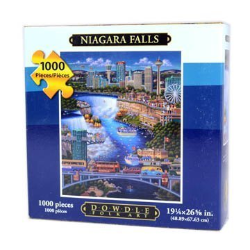 Jigsaw Puzzle - Niagara Falls 1000 Pc By Dowdle Folk Art by Dowdle Folk - Mall Shopping Niagara