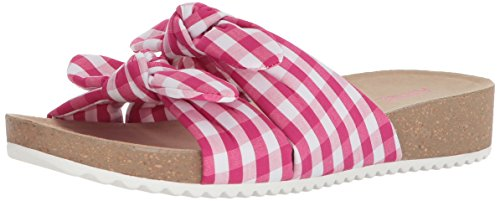 Dark Sandal Fabric Anne Slide Women's Pink White Quilt Klein wBXCqxXP