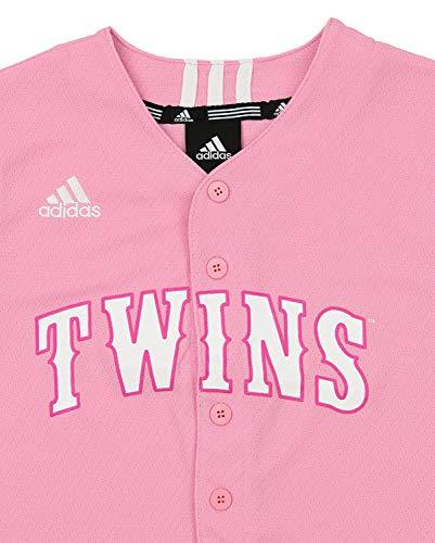 5ff146bbf adidas Minnesota Twins MLB Big Girls Performance Fashion Jersey, Pink
