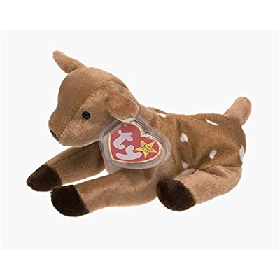 BEANIE BABIES TY Beanie Baby - Whisper The Deer: Toys & Games